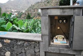 Téléphone public sur l'île de la Gomera Archipel des Canaries