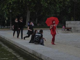 Madrid, comédie d'un défilé de mode