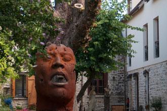 Sculpture d'une masque humain, Barbizon