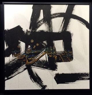 Jieun Park -90X90cm HK- encre de chine et acrylique sur papier coréen-galerie Gabel- ST'ART 2014