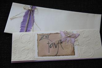 """glückwunschkarte """"zur taufe..."""", format ca. 29 x 10,5 cm, inkl. innenblatt und passendem couvert, fr. 11.00"""