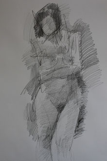 nu, graphite sur papier, 65/50 cm, 2012