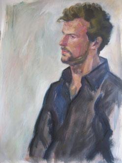 Emmanuel, acrylique et pastel sur papier, 70/55 cm, 2008