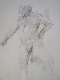 nu, graphite sur papier, 65/50 cm, 2011