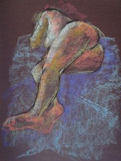 nu, pastel sur papier, 65/50 cm, 2005