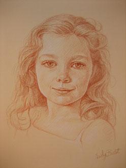 Constance, sanguine sur papier rosé, 30/40 cm, 2007