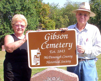 Betty Shoopman and Pat Cordell  - Gibson Cemetery