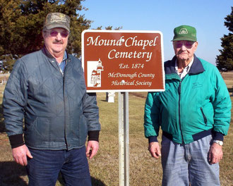 Howard Daniels and George Swartzbaugh - Mound Chapel Cemetery