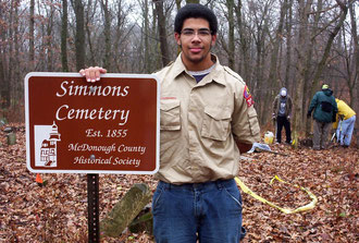 Macomb High senior Joe Howard - Simmons Cemetery near Spring Lake.