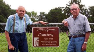John Cuba (left) and Gerald Waddill - Hills Grove Cemetery