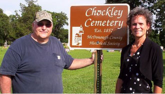 David Hynek and Penny Lawyer - Chockley Cemetery