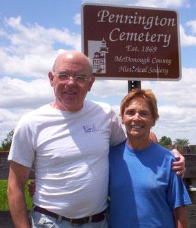 Dr. Jon Dively and Peggy Pennington Foster - Pennington Cemetery