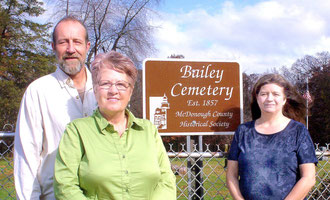 David Ridge, Annette Hall Morgan, and Debbie John  - Bailey Cemetery