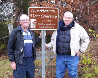 Bernard Lewis and Bob Moore - Guy-Pleasant View Cemetery