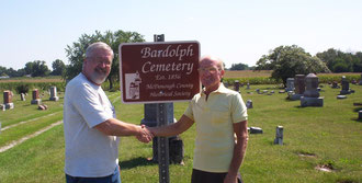 George Sewell and Gil Belles - Bardolph Cemetery