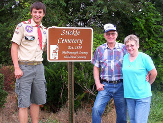 Ben Burdick, Larry and Mary Graves - Stickle Cemetery