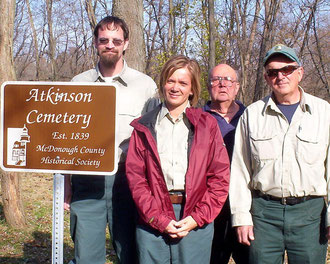 Robin Hinchee, Bridget Napolitano, Roger Frowein and Kenny John- Atkinson Cemetery