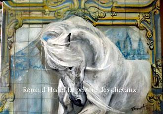 renaud-hadef-artiste-equin-AZULEJOS_huile sur toile 80x60cm