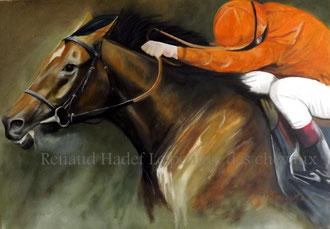 renaud hadef artiste equin- FINISH- Huile sur toile 120x80cm