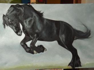 renaud-hadef-artiste-equin-FRISON2-huile sur toile 100x80cm