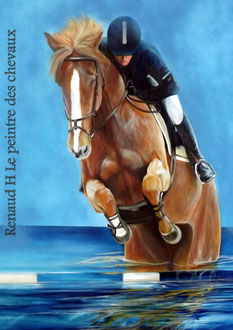 renaud-hadef-artiste-equin-CSO-huile sur toile 155x90cm