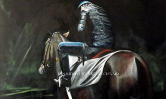 renaud-hadef-artiste-equin-TREVE-huile sur toile 120x80cm