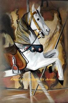 renaud-hadef-artiste-equin-MANEGE-huile sur toile 80x60cm