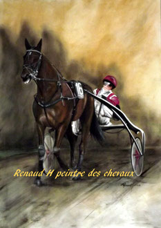 renaud-hadef-artiste-equin-READY CASH-huile sur toile 120x80cm