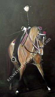 renaud-hadef-artiste-equin-ECUYÈRE-huile sur toile 120x80cm