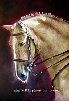 renaud-hadef-artiste-equin-GOLEGA-huile sur toile 12080cm