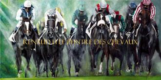 renaud-hadef-artiste-equin-DERNIERE LIGNE DROITE-huile sur toile 120x60cm