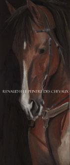 renaud-hadef-artiste-QUARTER HORSE2-huile sur toile 120x45cm
