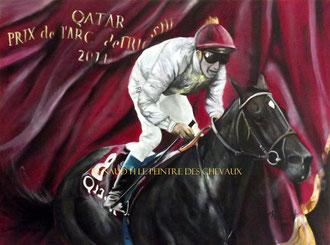 renaud-hadef-artiste-equin-TREVE2-huile sur toile 120x60cm