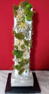"""Licheni   60x25   con materiali  naturali e stabilizzati """"VerdePassione"""""""