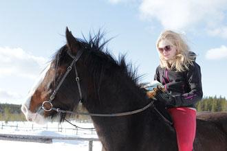 Roosa with Salli (Foto: Annika)