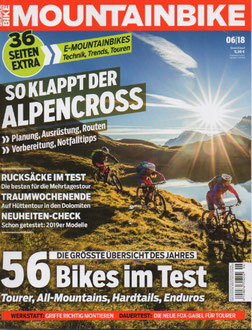 Cover MOUNTAINBIKE Magazin Juni 2018