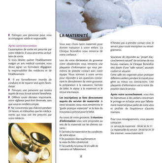 livret patient clinique Bonnefon Ales