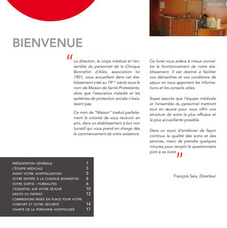 livret patient clinique Bonnefon Ales