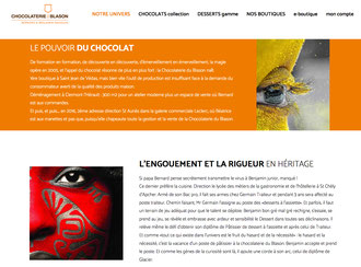 Site Chocolaterie du Blason