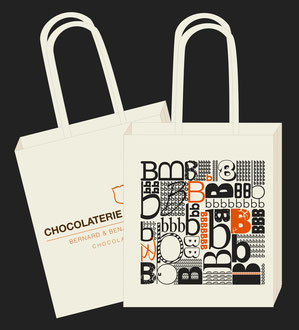 Illustration tote bag Chocolaterie du Blason