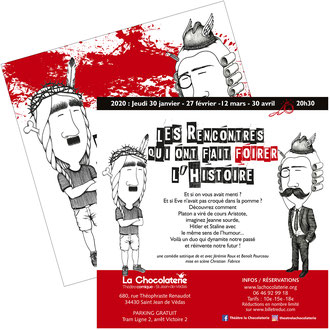 Flyer Théâtre La Chocolaterie