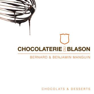 "Carte ""pochette"" Chocolaterie du Blason recto"