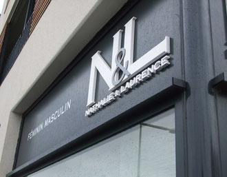 logo,N&L Coiffure et agencement enseigne