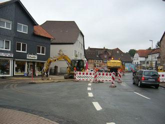 """Pflasterung Steinweg/Ecke """"Vor dem Tore"""""""