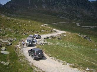 Eine Rast in den Bergen, Rumänien 2007