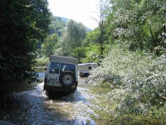 Mit dem PKW war die Unterkunft nicht zu erreichen, Rumänien 2007