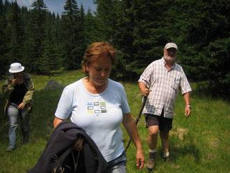 Auf Schusters Rappen durch den Wald, Rumänien 2007