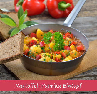 Rezept für Eintopf mit Paprika und Kartoffel