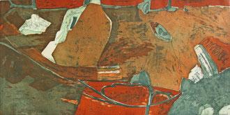 Ufer (Aquatintaradierung, Motiv 50 cm x 100 cm, Papier 60 cm x 107 cm, 2000, E/A)