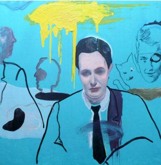 Raúl Herrera. Oil and acrylic on canvas. 130 x 130 cm. 2013.